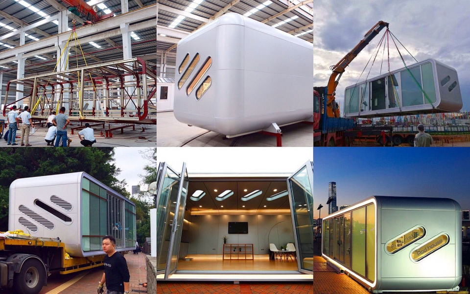 James Law Cybertecture designed Mobile Pods - AlPod at Confluence 20 Exhibition, Hong Kong