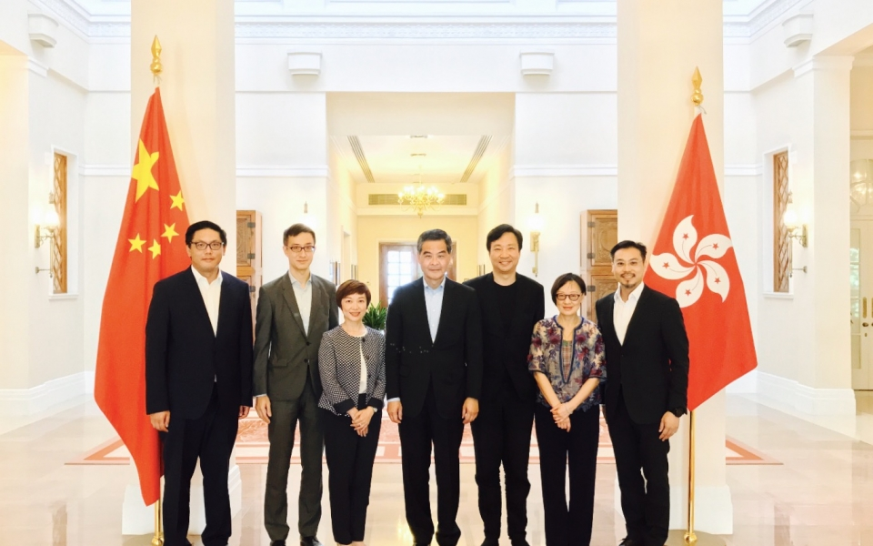 James Law visits with Chief Executive CY Leung at Government House