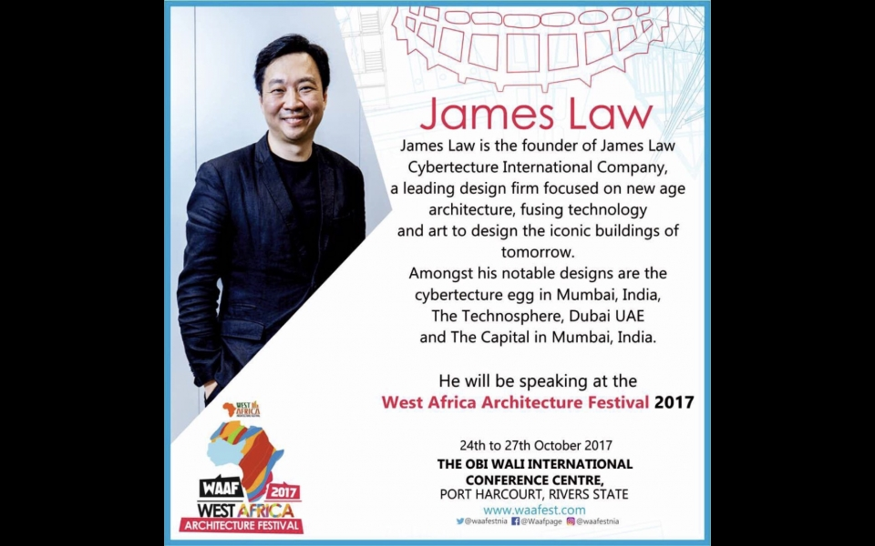 James Law to speak at West Africa Architecture Festival 2017
