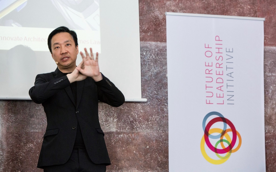 James Law gives Future Leadership Initiative keynote speech in Munich