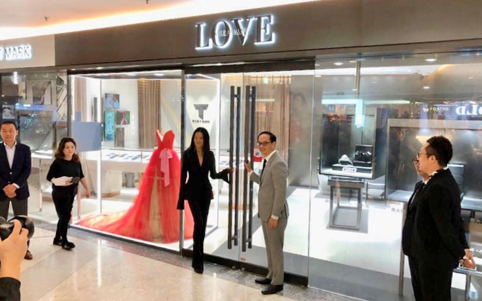 Love by Vera Wang x TMark by Chow Tai Fook store designed by James Law Cybertecture opens in Shanghai