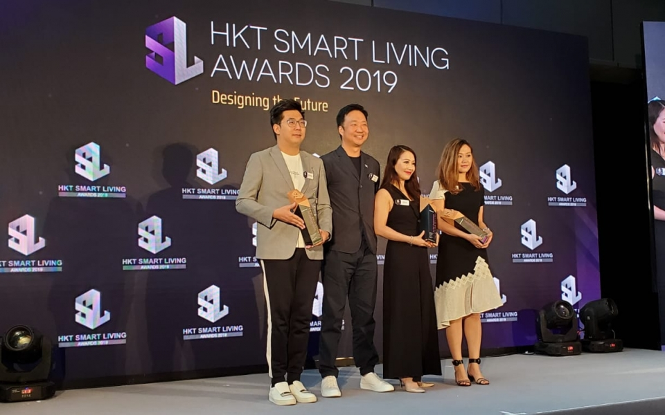 James Law presents awards at  HKT Smart Living Awards 2019