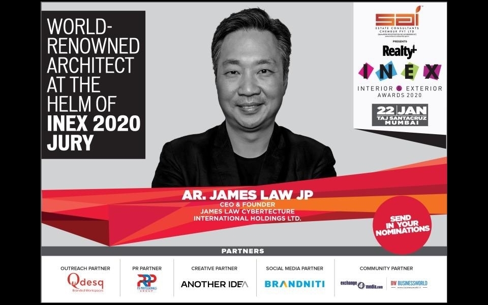 James Law is delighted to be JuryChair for the 4th Interior & Exterior Awards (INEX) 2020