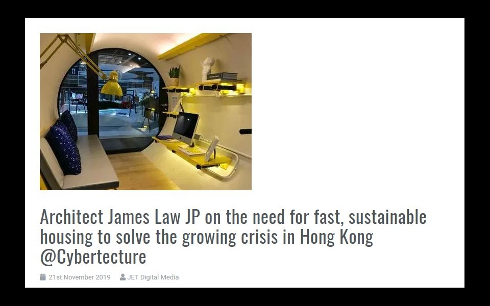 JET Digital Media covers James Law speech about Housing problem and crisis in Hong Kong at SDGs Impact Summit