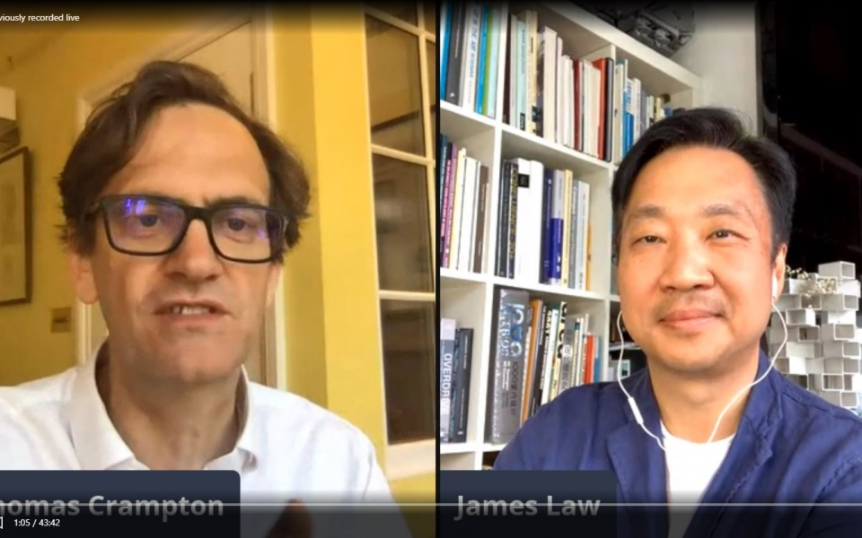 Full video of James Laws LinkedIn live session with Thomas Crampton, discussing on post COVID19 and Global housing problems