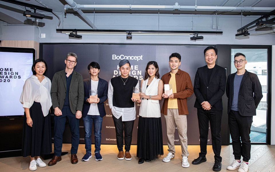 James Law giving out awards for BoConcept Home Design Awards 2020