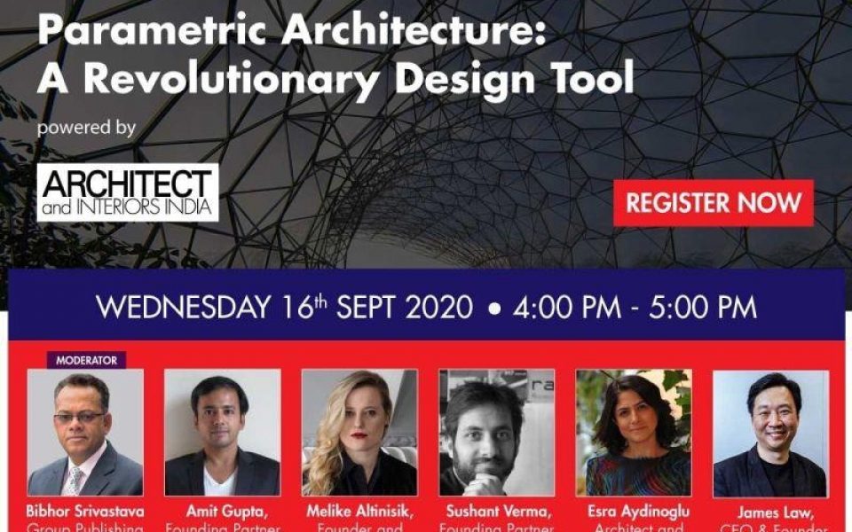 James Law to speak at Architect and Interiors India Webinar series on Sep 16
