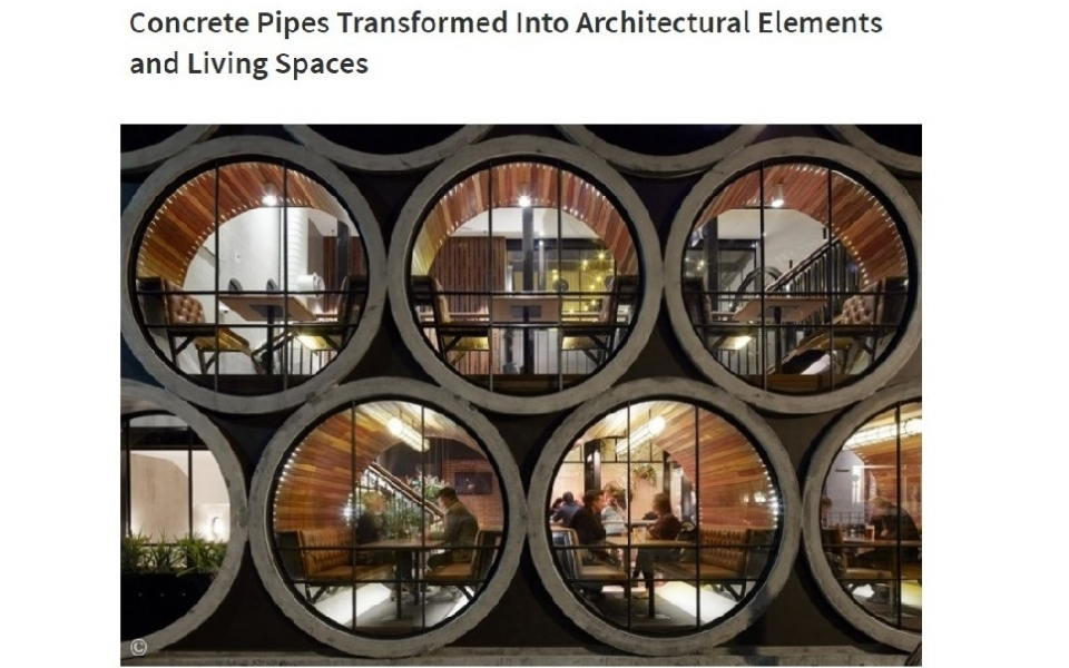 ArchDaily features Concrete Pipes Designs around the World including OPod